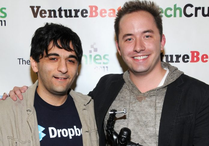 sang lap dropbox drew houston va arash ferdowsi